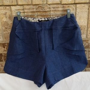 NWT ARK & CO Blue Linen Shorts Size Small